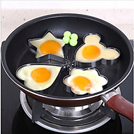 Bộ 4 khuôn chiên đúc trứng, làm bánh nhiều hình inox (hình ngẫu nhiên) thumbnail