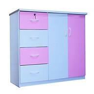 Tủ nhựa Đài Loan 2 cánh 4 ngăn T307 màu hồng (106 x 45 x 96 cm) thumbnail