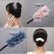 Dụng cụ kẹp búi tóc quấn tóc dẻo , kẹp tóc đính hoa tuyệt đẹp thumbnail