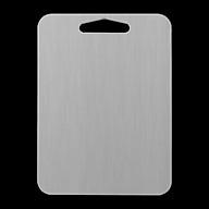 Thớt Inox 304 Kháng Khuẩn Cừờng Lực - Dày 3mm- Vệ Sinh Dễ Dàng- Rã Đông Nhanh - Chống Ẩm Mốc - Không Xước Dăm- Không Mùn Gỗ thumbnail
