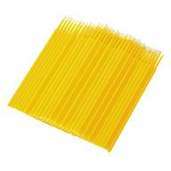 100 cái Tăm bông dùng nối mi, xăm môi - Yellow thumbnail