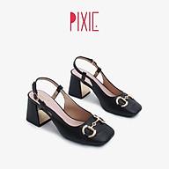Giày Cao Gót 7cm Mũi Vuông Gắn Khoá Pixie X776 thumbnail