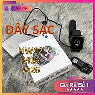 Đế sạc, cáp sạc cho đồng hồ thông minh HW12 M16 HW16 HW22 W26 W26M... Hàng mới bóc máy thumbnail