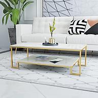 Bàn trà sofa chữ nhật hai tầng Tribu - mặt đá thumbnail