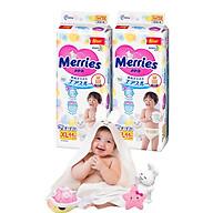 Combo 2 Tã Dán Merries XL44 tặng khăn tắm sợi tre hình thỏ đáng yêu và đồ chơi tắm Toys House thumbnail