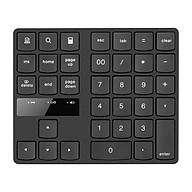 2.4G Wireless Numeric Keyboard Portable 35 Keys Financial Accounting Office Keyboard Built-in Rechargeable Battery Black thumbnail