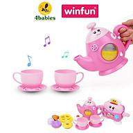 Bộ đồ chơi đồ hàng nhà bếp cho bé WINFUN 3155G - Set trà chiều vui nhộn kèm máy nướng bánh - BPA free thumbnail