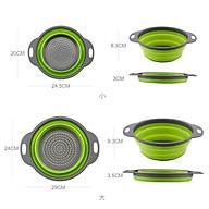 Combo 2 Rổ Silicon Đựng Rửa Trái Cây Và Rau Củ Size Lớn Và Nhỏ Tiện Lợi thumbnail