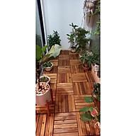 Vỉ Sàn gỗ tự nhiên cao cấp 6 nan R30 cm - GỖ TỰ NHIÊN NGOÀI TRỜI 6 CAO CẤP DỄ DÀNG SỬ DỤNG thumbnail