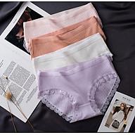 Combo 5 quần lót nữ cao cấp tăm tre KHÁNG KHUẨN, cotton co dãn đàn hồi tốt, thoải mái, thoáng mát. thumbnail