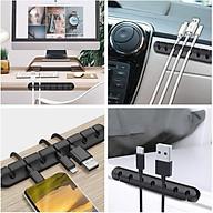 Kẹp dán cố định dây cáp sạc, tai nghe, dây phụ kiện đa năng làm gọn bàn làm việc, taplo xe hơi cực tiện dụng - Hàng nhập khẩu thumbnail