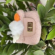 Túi Xách Nữ Cầm Tay Xinh Xắn Bằng Lông Mềm Với Thỏ Con Dễ Thương - Kích Thước 13.5 x 11.5 x 5.5 cm thumbnail