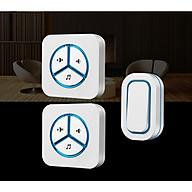 Chuông cửa đôi không dây chống nước cao cấp 9909-2 ( Tặng kèm 01 miếng thép đa năng để ví ) thumbnail