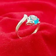 Nhẫn nữ Hồ Ly Bạc Quang Thản, nhẫn Hồ Ly nữ free size chất liệu bạc ta không xi mạ có nhiều màu đá lựa chọn QTNU58 thumbnail
