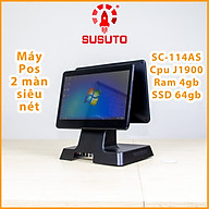 MÁY POS BÁN HÀNG SC-114AS - Hàng chính hãng(J1900, 4G DDR RAM, 64G SSD, 14 inch, Black, 2 màn) thumbnail