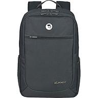 Balo Laptop Mikkor The Edwin TEB003 - Xám đen (15.6 - Mac 17 ) thumbnail