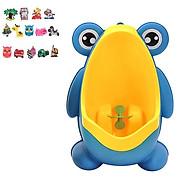 Bô đi vệ sinh cho bé trai- Dụng cụ đi tiểu hình chú ếch gắn tường an toàn với bé 30 x 21 x17cm, nhiều màu, giao màu ngẫu nhiên+ Tặng kèm hình dán ngẫu nhiên thumbnail