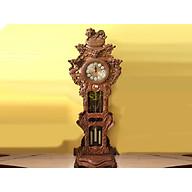 Đồng hồ Nghê đỉnh gỗ hương nhỏ -DHNHN04 thumbnail
