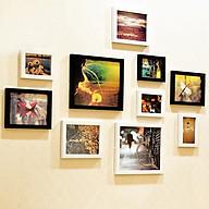 Bộ 10 khung ảnh treo tường phòng khách KA1002 Miễn phí phụ kiện. thumbnail