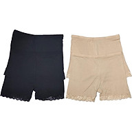 Combo 4 Quần mặc trong váy 2 màu đen và 2 màu be chất cotton siêu mịn thoáng mát thumbnail
