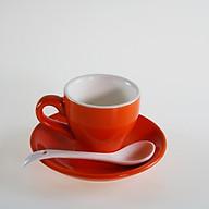 Bộ ly dĩa sứ tặng kèm muỗng chất liệu sứ cao cấp dung tích cho cà phê Espresso - Cappuccino - Latte nhiều màu sắc thumbnail