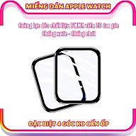 (Đặc biệt 4 góc ko cấn ốp) Miếng dán cường lực dẻo trong & nhám full màn viền cong 3D cho Apple Watch size 38 40 42 44mm thumbnail
