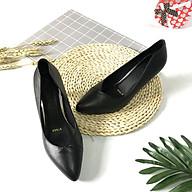 Giày cao gót nữ LUCACY họa tiết khâu mũi da bò cao cấp 5PKM thumbnail