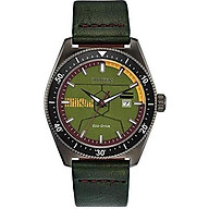 Citizen Men s Star Wars Classic Stainless Steel Quartz Leather Calfskin Strap, Green, 14 Casual Watch (Model AW1597-05W) thumbnail