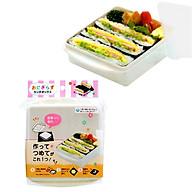 Bộ 2 hộp dùng làm Onigirazu và chia đồ ăn an toàn cho bé - Hàng nhật nội địa thumbnail