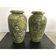 cặp lọ hoa đá ngọc sepentine tự nhiên thumbnail