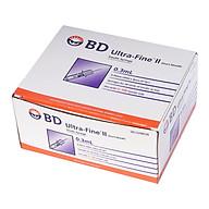 Bơm tiêm kim tiểu đường Isulin BD 0,3cc x 30G - hộp 100 cây thumbnail