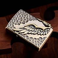 Hột Quẹt Bật Lửa Xăng Đá Z9837 Thiết Kế Đẹp Độc Lạ Hình Đôi Cánh - Dùng Xăng Bấc Đá Cao Cấp thumbnail
