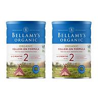 2 Lon Sữa Bột Bellamy s Organic Số 2 (900g) thumbnail