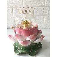 Đèn thờ dầu bằng gốm sứ hình hoa sen hồng BH121333 thumbnail