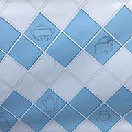 Cuộn 3 MÉT Decal giấy dán bếp tráng nhôm cách nhiệt khổ 60cm MẪU Ô CHÉO DỤNG CỤ NẤU ĂN thumbnail
