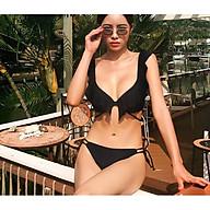 Bikini áo tắm 2 mảnh vai bèo quần tam giác sẵn đệm nhiều màu (Ảnh tự chụp) thumbnail