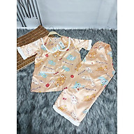Pijama nữ lụa Satin mặc nhà ,Đồ Bộ , Đồ Ngủ Satin loại 1 quần dài Rumyh03 Họa tiết dễ thương ảnh chụp trực tiếp , Size M L thumbnail