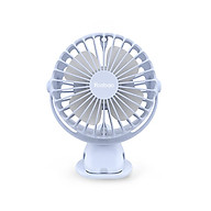 HÀNG CHÍNH HÃNG - Quạt sạc mini F04 Yoobao xoay góc 720 độ, đế kẹp đa năng, an toàn cho trẻ với 4 nấc điều chỉnh gió chính hãng thumbnail