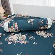 Vỏ gối Ôm HQ2010 phối xanh lá đậm hoa thumbnail
