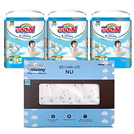 Combo 3 gói tã quần Goo.n Premium M56 L46 XL42 XXL36 XXXL26 tặng Bộ chăn gối cao cấp và đồ chơi xe trượt đà cho bé VBC-123-6 (ngẫu nhiên) thumbnail