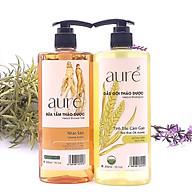 [COMBO Siêu Khuyến mại] AURÉ, Sữa tắm thảo dược, Nhân sâm + Dầu gội thảo dược, Tinh dầu cám gạo, Chai 300ml thumbnail