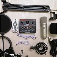 Bộ live stream hát karaoke Sound Card V9 Bluetooth và Mic ISK AT-100 đầy đủ phụ kiện hàng nhập khẩu thumbnail