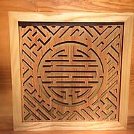 Tấm chống ám khói khung gỗ sồi chữ Thọ - BH70 thumbnail