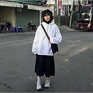 áo hoodie basic nữ màu trắng trơn - white hoodies thumbnail
