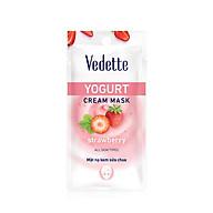 Mặt nạ sữa chua dâu Vedette Yogurt Mask Strawberry 10ml thumbnail