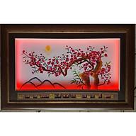 Tranh thêu đèn led + lịch vạn niên, Cành đào -2035 thumbnail
