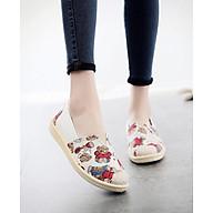 Giày Lười Tom 3Fashion Vải Mềm Chắc Chắn Đế Giả Cói In Họa Tiết Pé Gấu Dễ Thương - 3147 - Gấu thumbnail