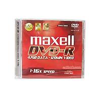 Đĩa DVD Trắng Maxell 4.7GB (Đĩa Kèm Hộp Mika)- Hàng Nhập Khẩu thumbnail