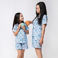 Đồ bộ Pijama Mẹ và bé áo cộc quần đùi thumbnail