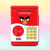Két Sắt Mini Đựng Tiền Thông Minh Mở Bằng Mật Mã Hình Angry Bird thumbnail